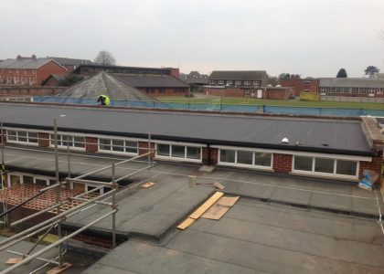 Re-roofing Budleigh school